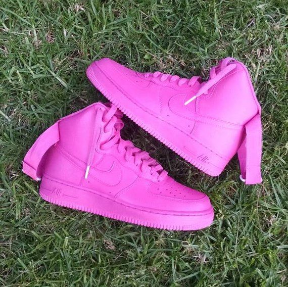 100% authentic cdfff d22d6 Pinkaholic Custom Nike Air Force 1 High Top | Products in ...