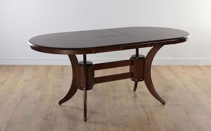 Townhouse Oval Dark Wood 150 180cm Extending Dining Table Furniture Choice Oval Table Dining Unique Dining Room Table Dining Room Accessories