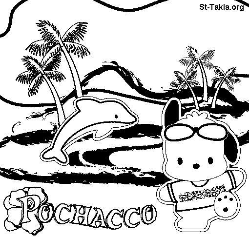 Download Imagen de http://coloringpanda.com/img/3441105-pochacco-coloring-pages.gif.   Pochacco