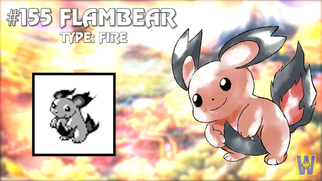 Unused Pokemon Flambear My Stuff Pokemon Gold Pokemon Old