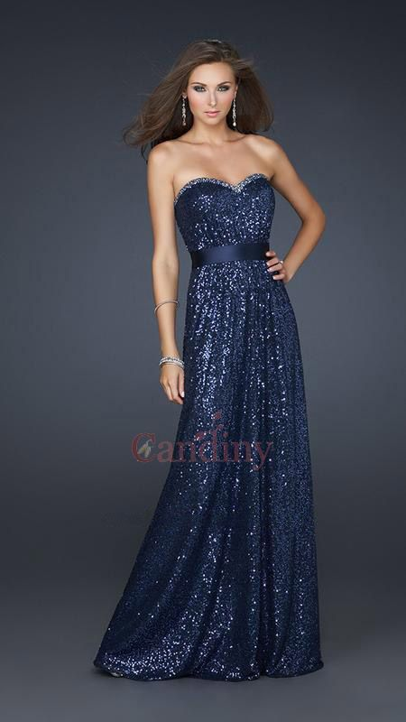 Gorgeous strapless sequin gowns uk will make you shine at prom ...