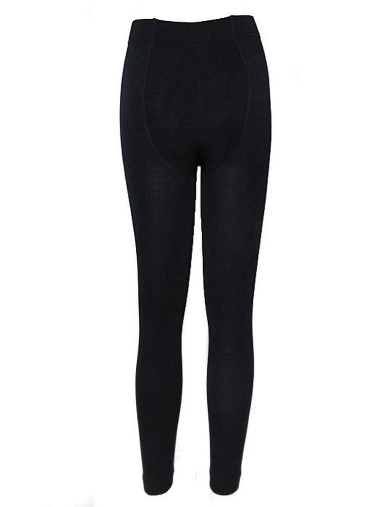 90a432009 Womens Leggings Ladies Thermal Thick Winter Warm Fleece Lined Navy ...