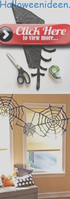Halloween Dekoration Idee Müllsack Spinnennetz basteln #spinnennetzbasteln Halloween Dekoration Idee Müllsack Spinnennetz basteln ... #basteln #dekoration #halloween #spinnennetzbasteln
