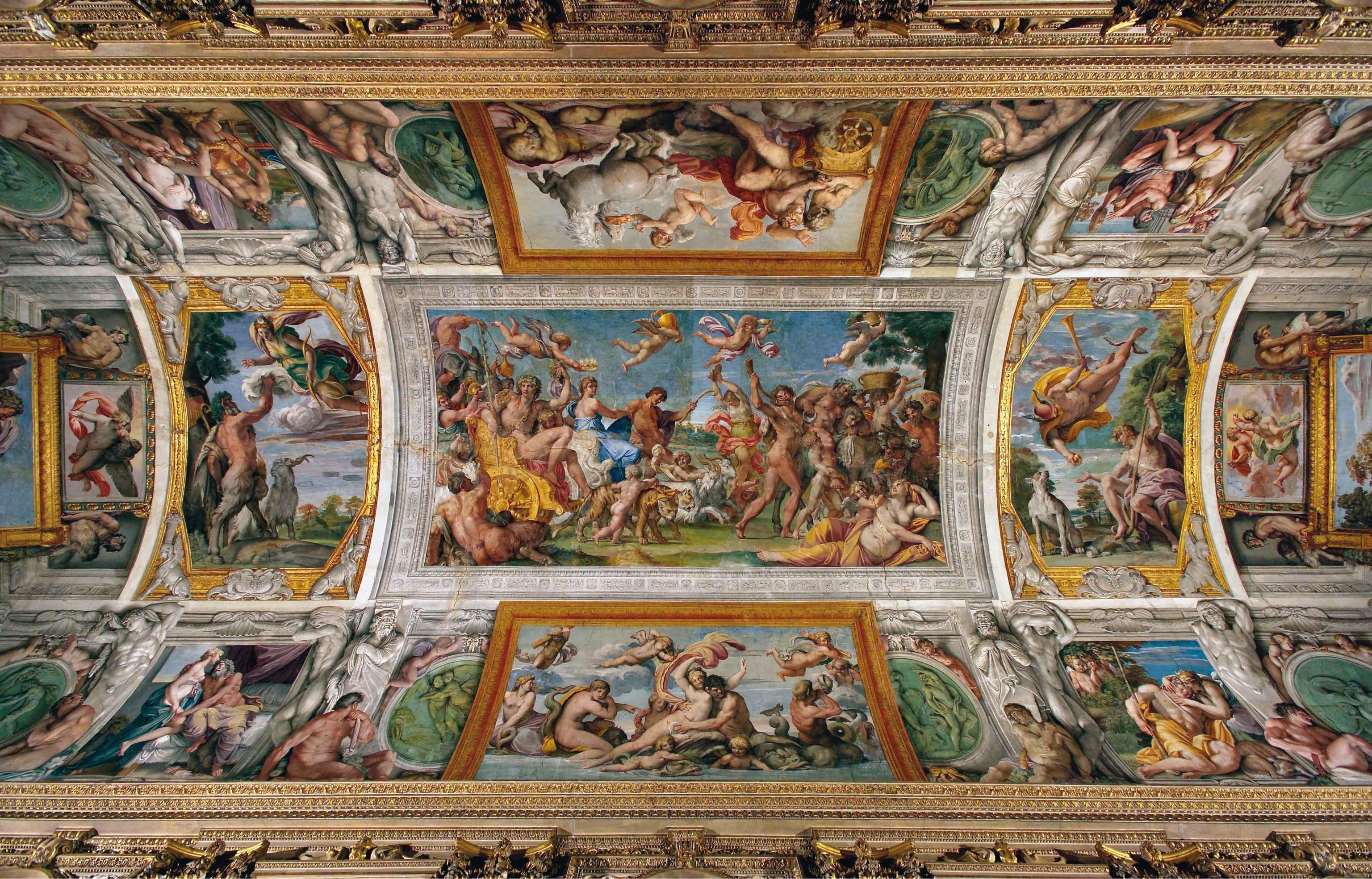 Annibale e agostino carracci volta galleria farnese roma for Ca roma volta mantovana