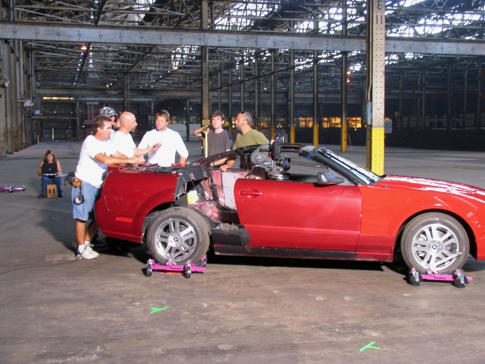 Setting Up A Camera Car For A Specialty Shoot Back In 2004 This Cutaway Was A Sn197 Mustang Used For The Huge Ford Ad Campaign To Mustang Ford Ad Campaign
