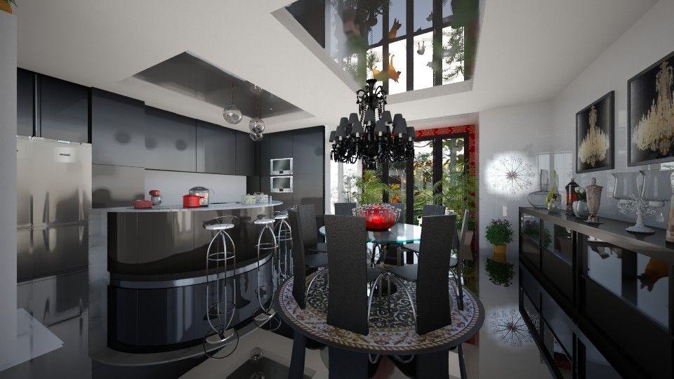 Roomstyler.com - Cozinha  Preta