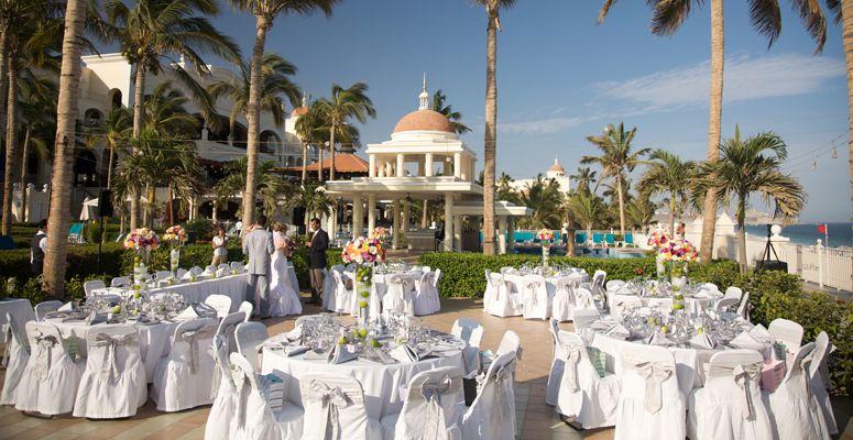 Riu Palace Cabo San Lucas Wedding Reception On Beachfront Terrace