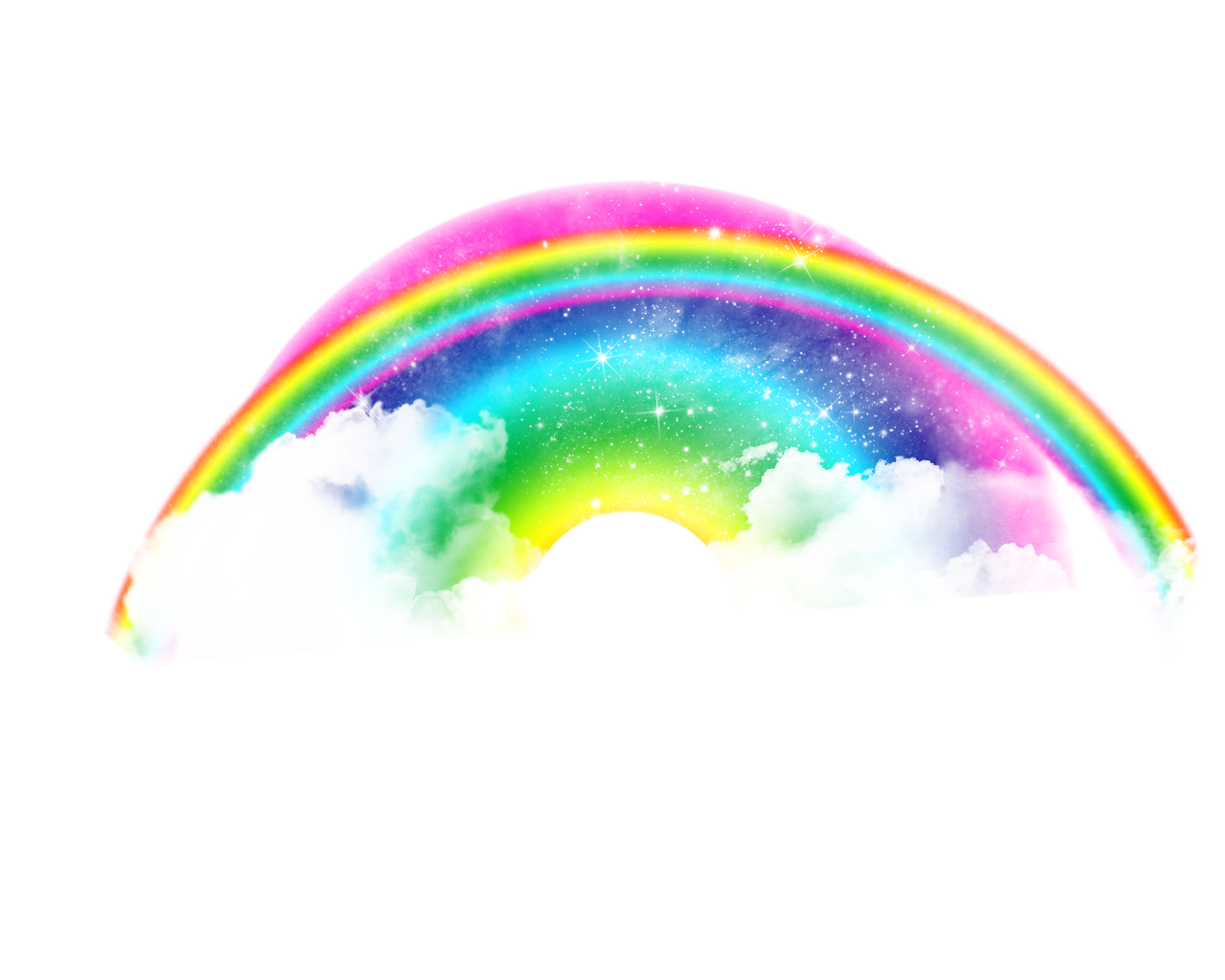 Real rainbow, clouds, lights,effect, rainbow png #7010 ...