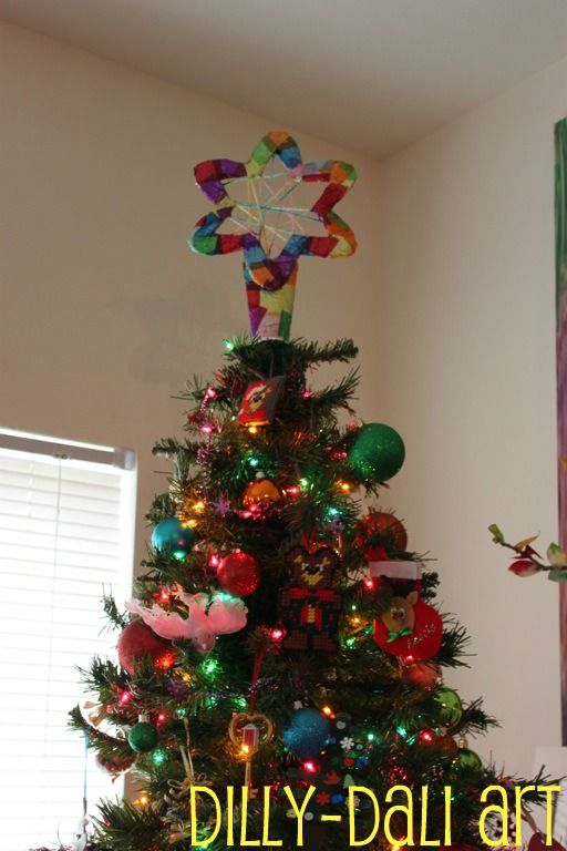 Dilly-Dali Art Christmas Tree Star Crafts / Stuff for Sophie