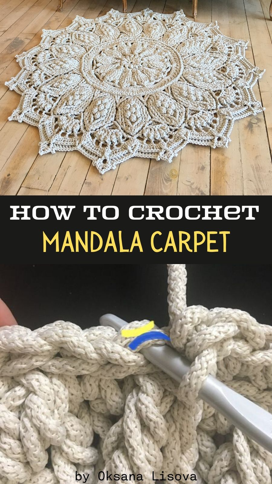 Pin On Crochet Rugs By 1hobby1