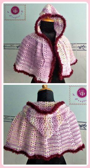 Crochet Scent Of Spring Hooded Cape Maz Kwoks Designs