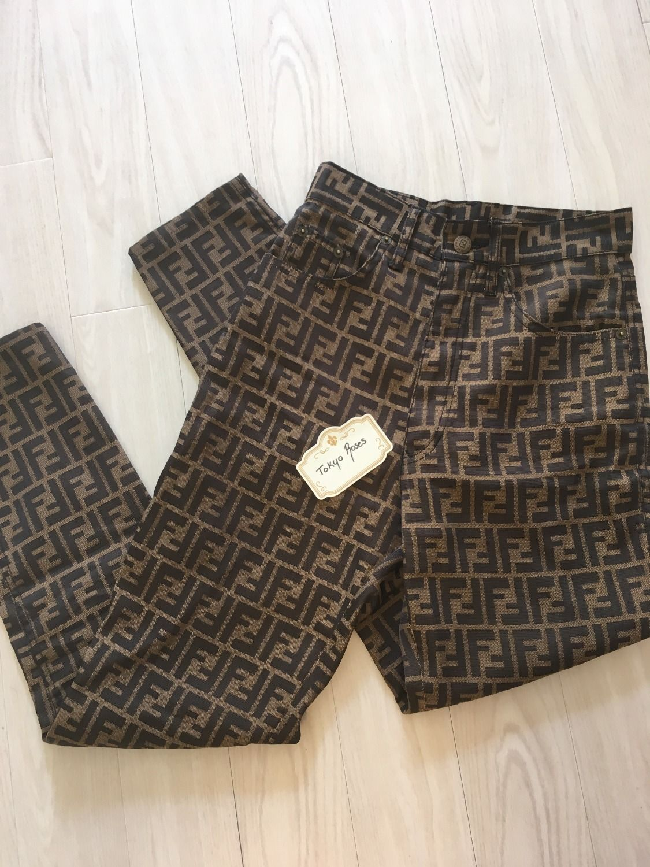 a6c2c541bff Vintage Fendi Zucca FF Logo Monogram Print Long Pants   Clothes ...