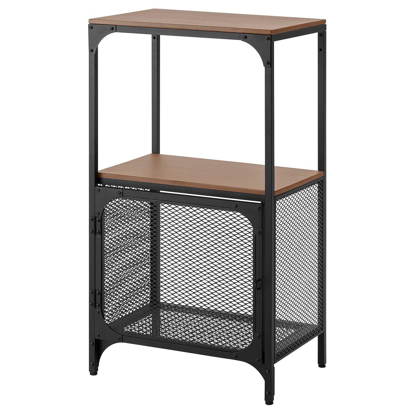 FjÄllbo Shelf Unit Black 20 1 8x37 3