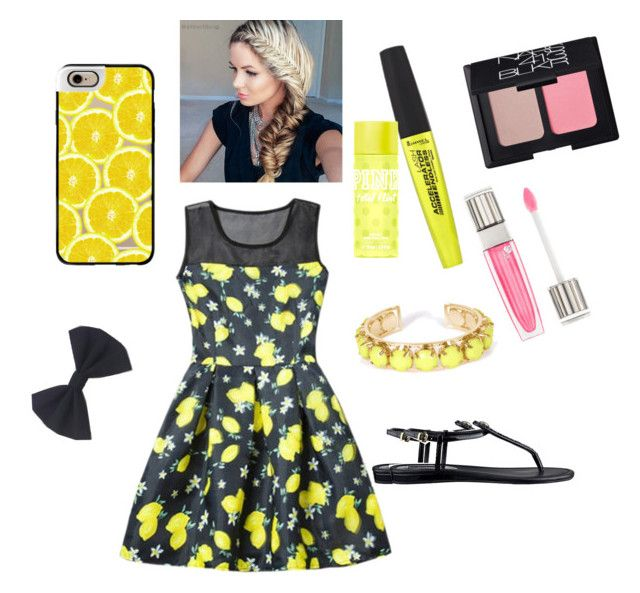 """""""Lemon love """" by eliyanakubelis on Polyvore featuring Casetify, Rimmel, Victoria's Secret, Lancôme, NARS Cosmetics, GUESS and Towne & Reese"""