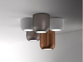 Lampada da soffitto a led in acciaio invisible lampada da