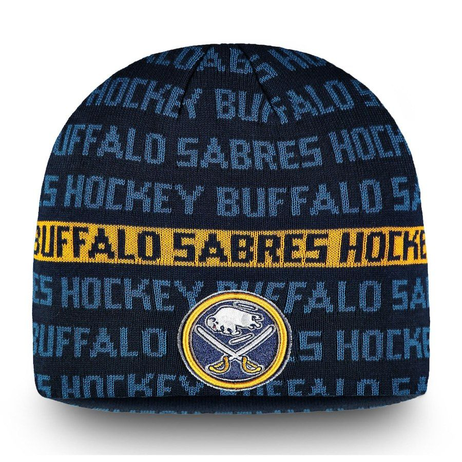 new products e8f84 27001 Men s Buffalo Sabres Fanatics Branded Navy Gold Authentic Pro Rinkside Knit  Beanie, Your Price   27.99