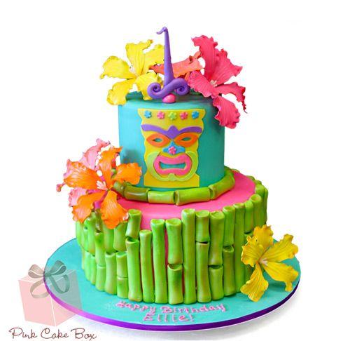 Prime Tiki Birthday Cake Birthday Cakes Tiki Cake Luau Party Cakes Funny Birthday Cards Online Elaedamsfinfo