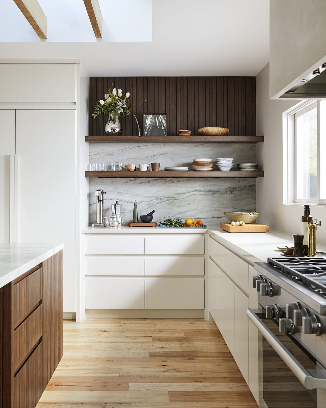 """Interior Design Open Kitchen: Dering Hall On Instagram: """"Open Shelving, Clean Lines, And"""