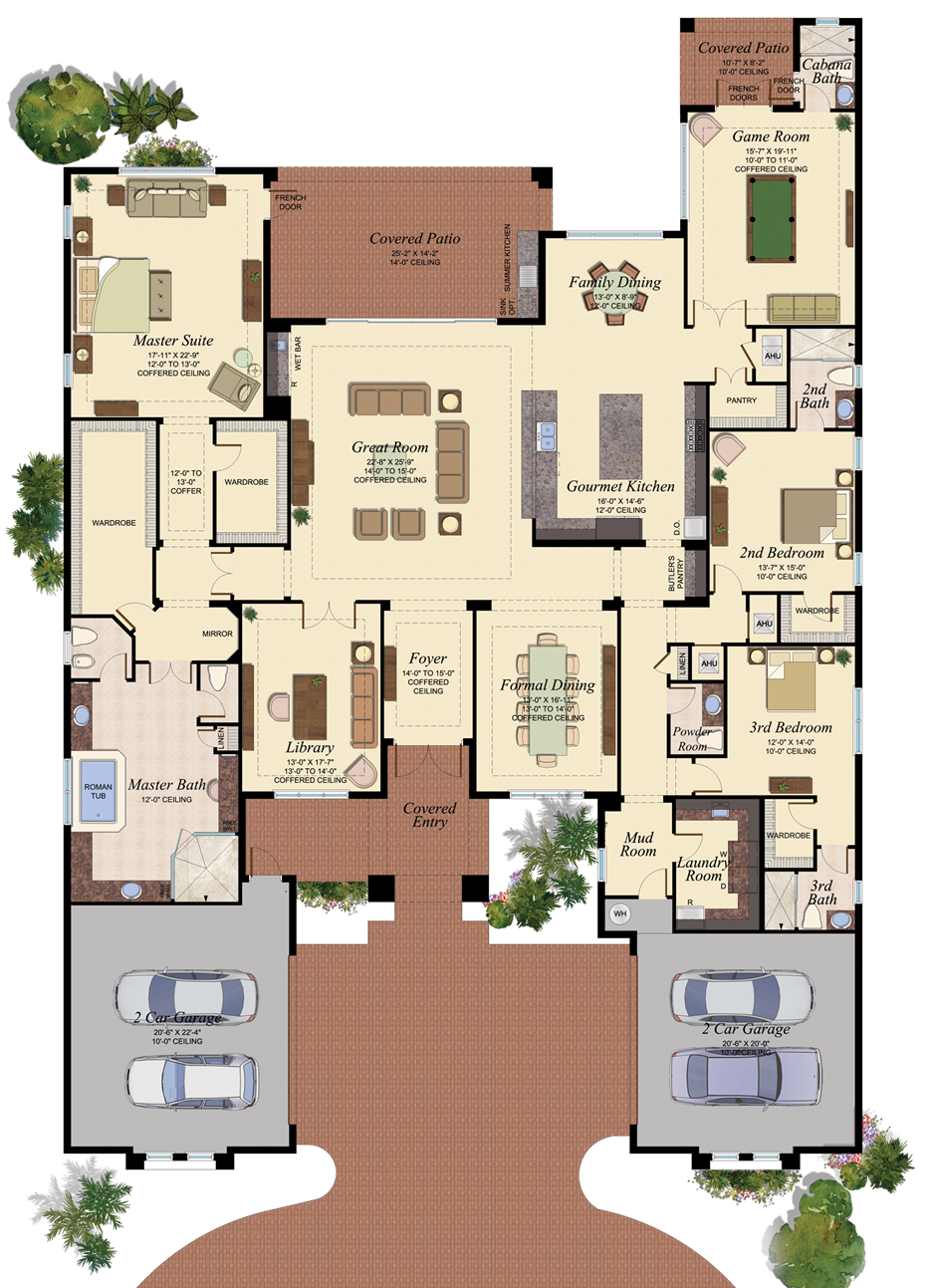 VERSAILLES/901 Floor Plan New house plans, House