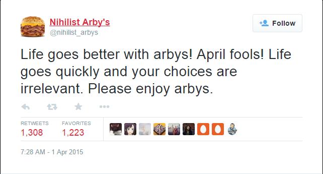 nihilist arby s believes
