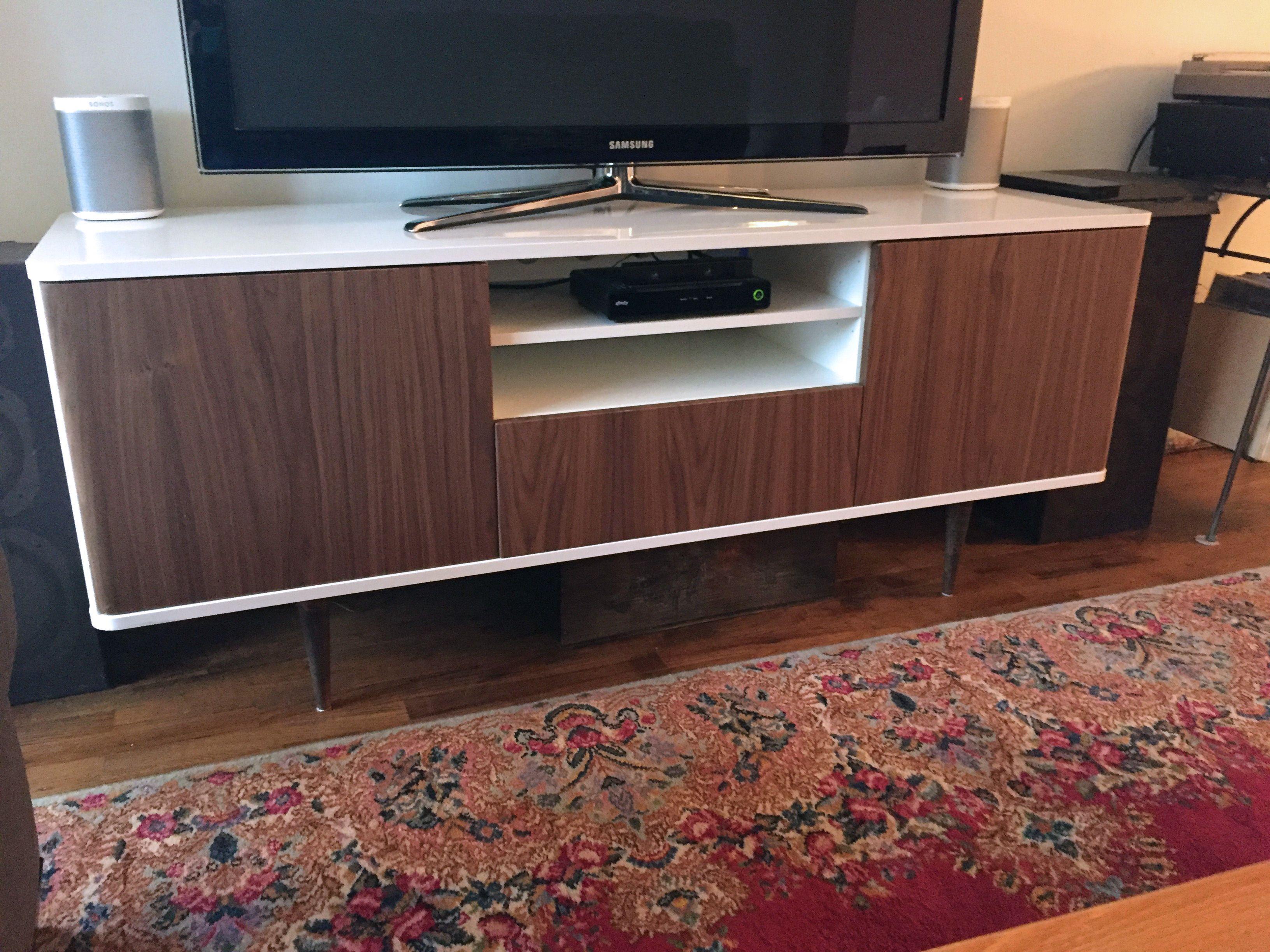 Credenza Blu Ikea : Mid century credenza ikea hack our new home
