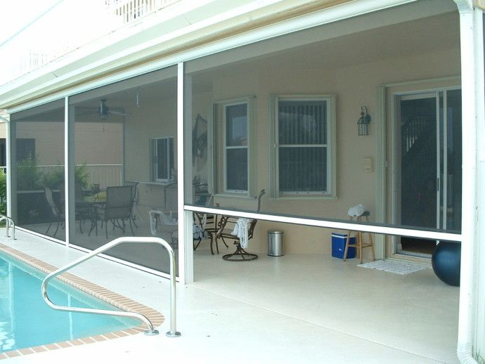 Roll up patio screens home patio pinterest patios for Roll up screen porch