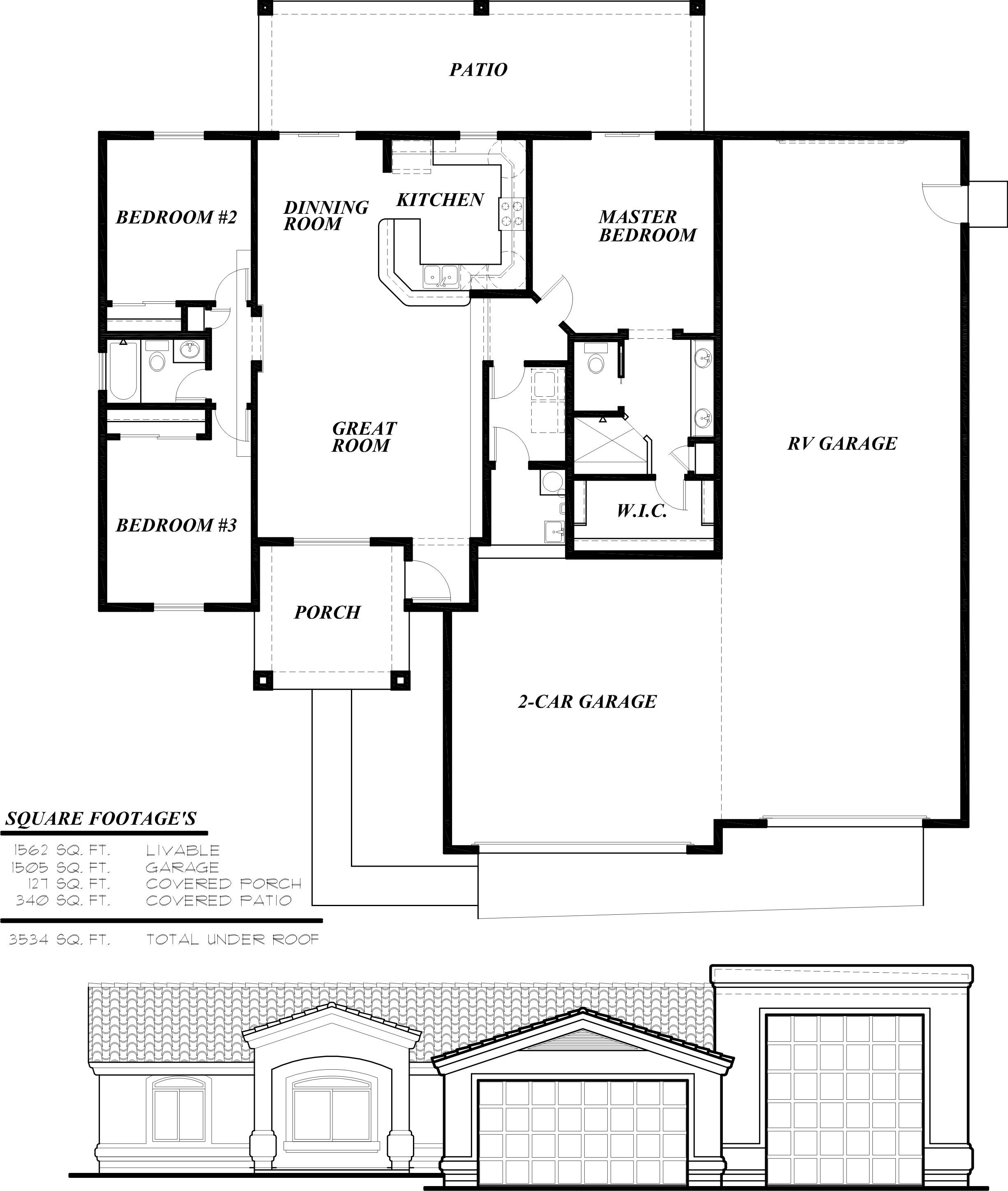 Amazing Rv Garage Floor Plans Home Design New Marvelous