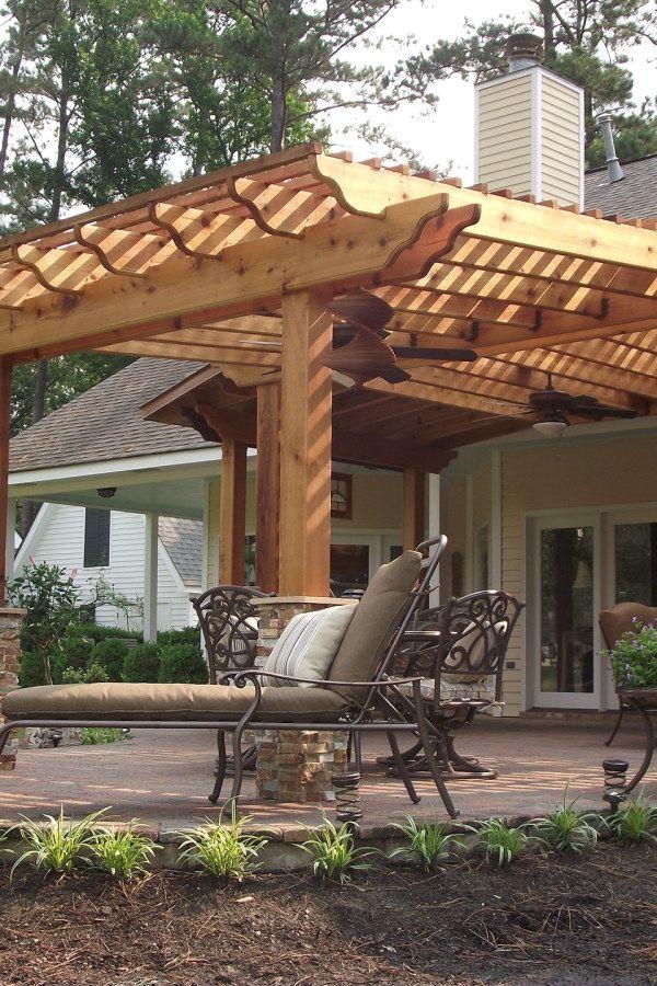 Patio Pergola Design No. 5 | 10 Awesome Wooden Garden Pergola Designs You  Can Build Yourself To Complement Your Landscape #garden_pergola #pergolas