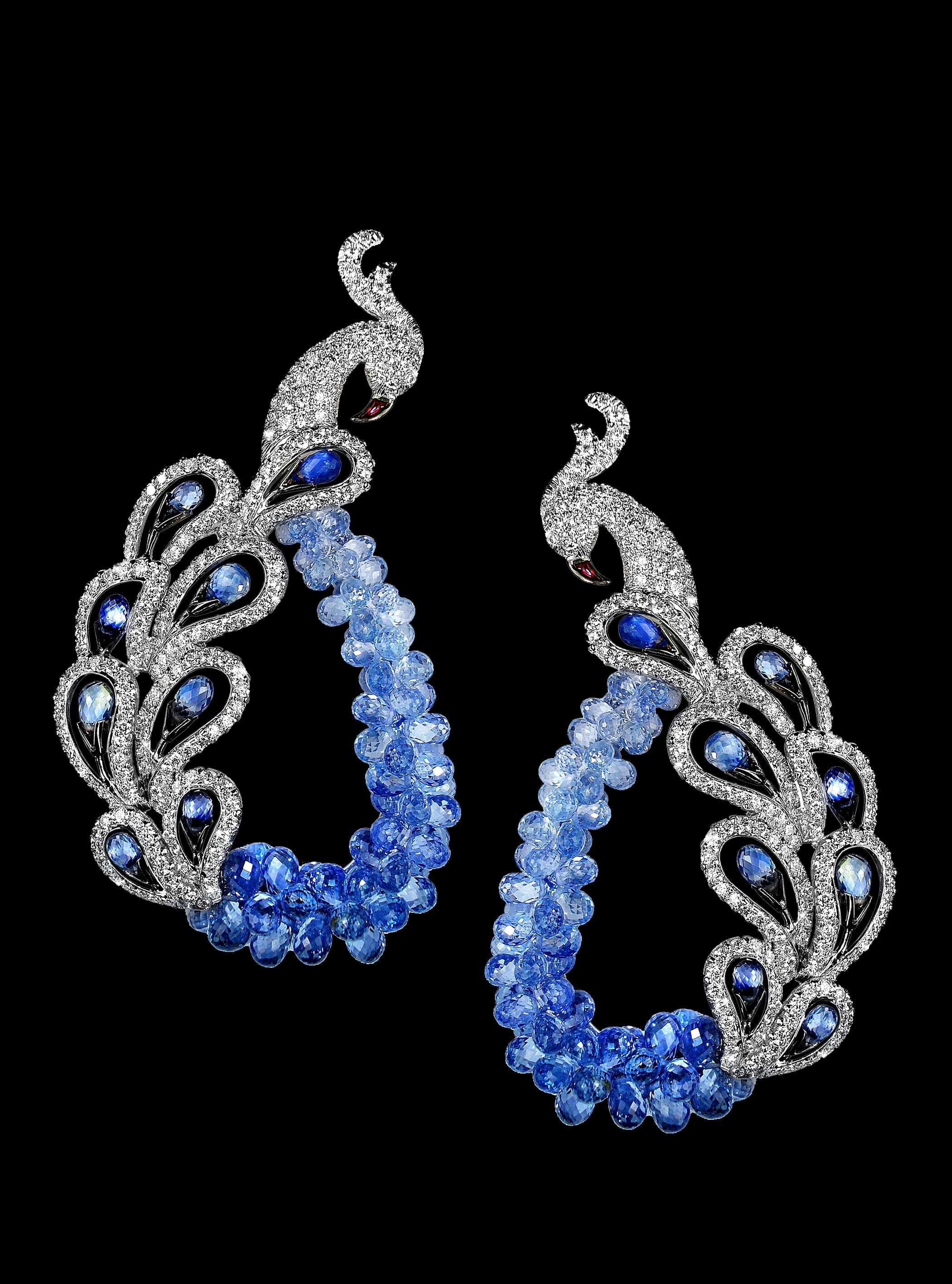 sapphire coral in briolette melody earrings drops gold collection pin pink amethyst of colours