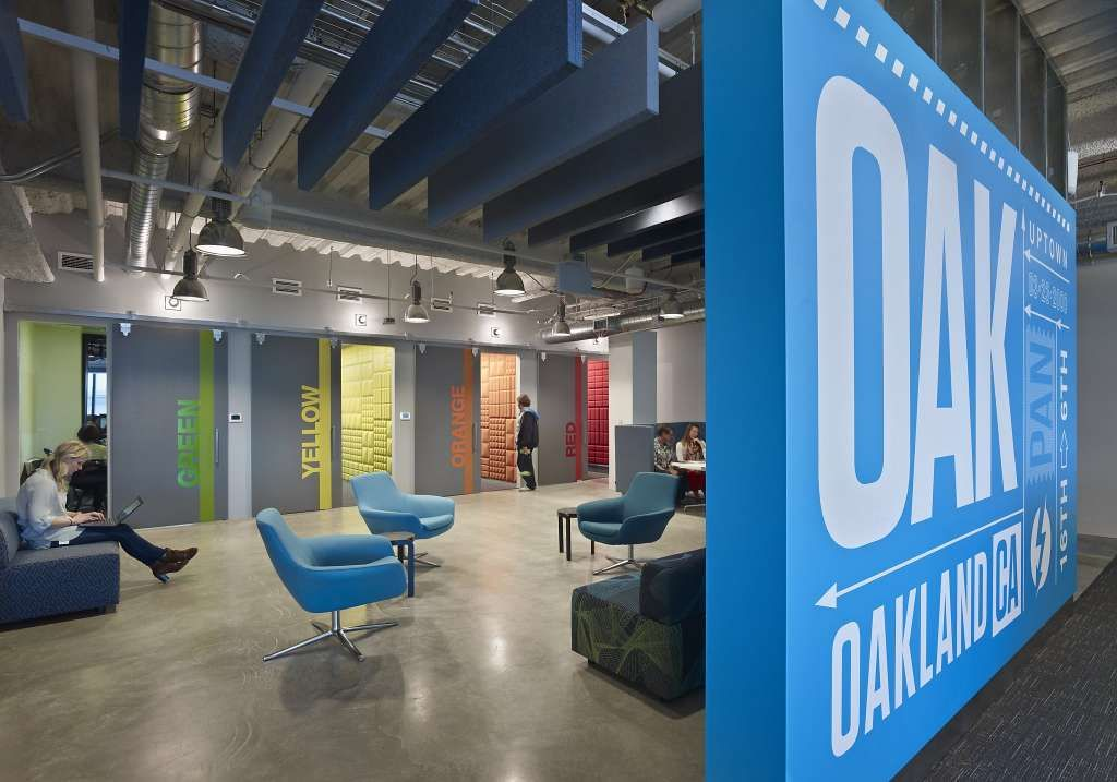 A view of the Pandora offices in Oakland. Photo: Pandora Byline TK