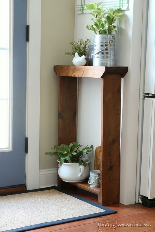 Quick And Easy Diy Console Table Finding Home Farms Small Decor Diy Console Table Small Hallway Table
