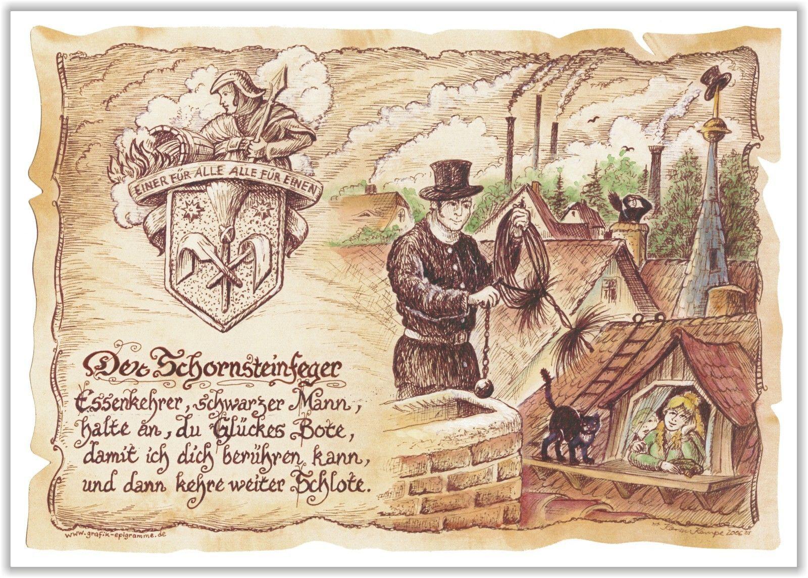 Gedicht Schornsteinfeger Essenkehrer Gedichte Geschenk