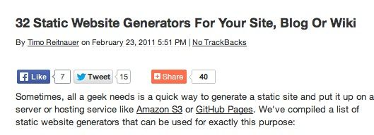 List of static website generators | Web Tools | Pinterest ...