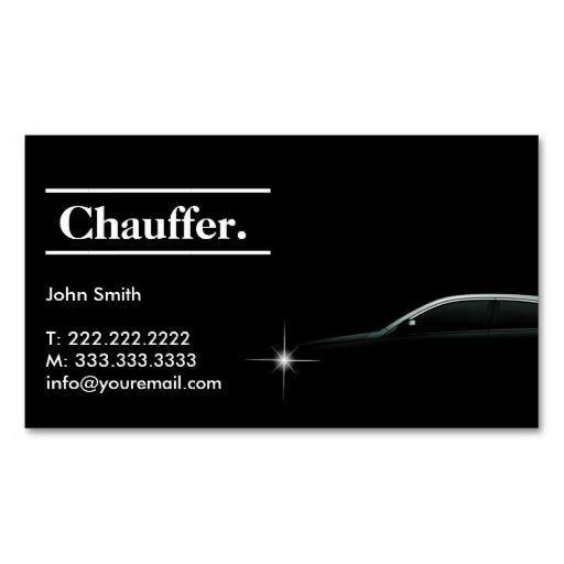 Elegant Dark Taxi Driver Chauffeur Business Card Taxi Driver Chauffeur Taxi