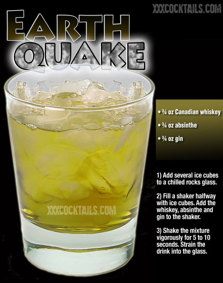Earthquake In 2020 Alcohol Drink Recipes Cocktail Drinks Recipes Liquor Drinks
