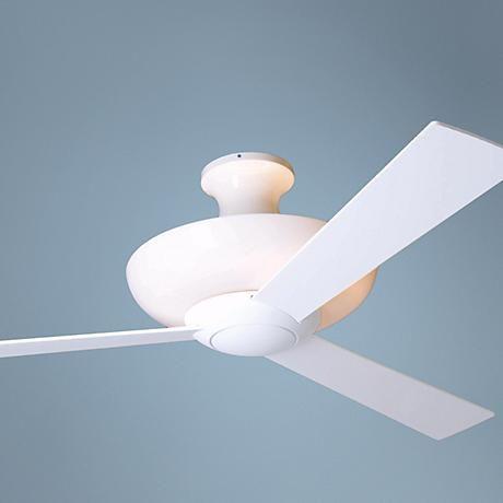 52 Gloss White Aurora Hugger With Uplight Ceiling Fan With Images Ceiling Fans Without Lights Ceiling Fan White Ceiling Fan