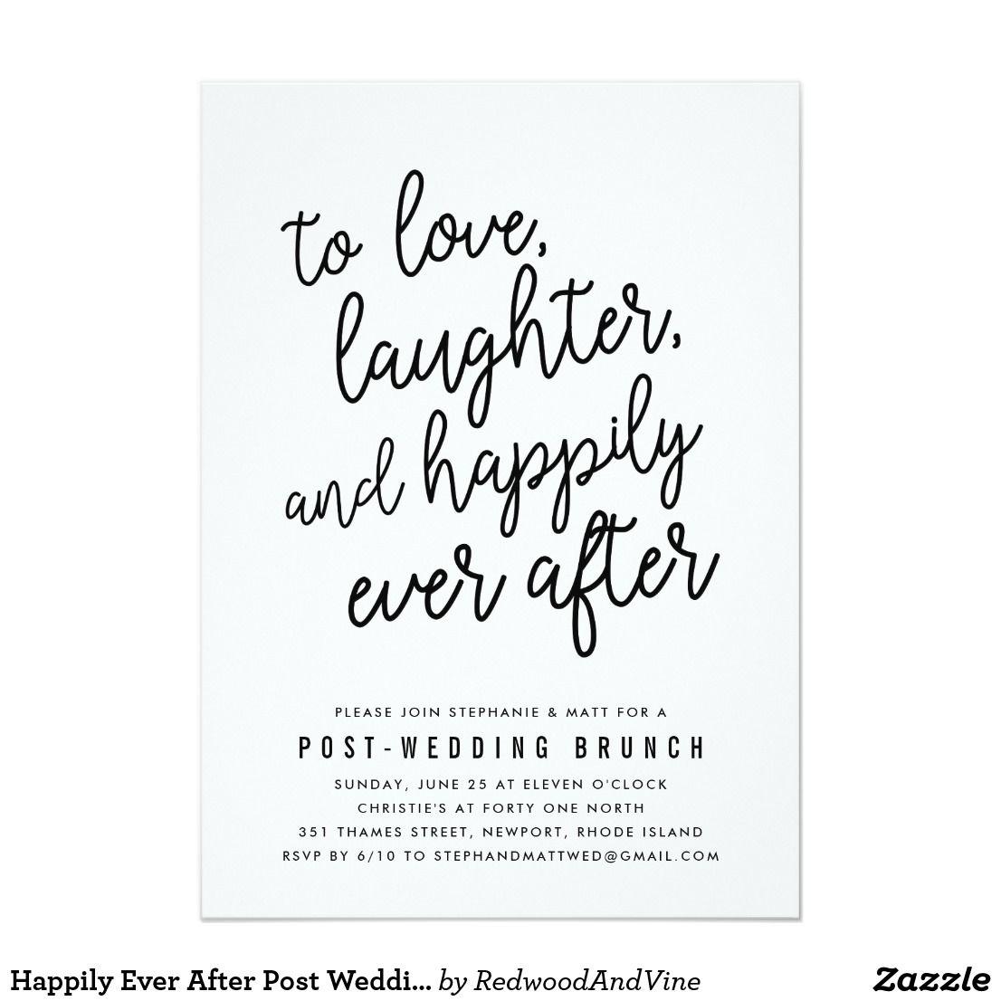 Happily Ever After Post Wedding Brunch Invitation | Pinterest ...