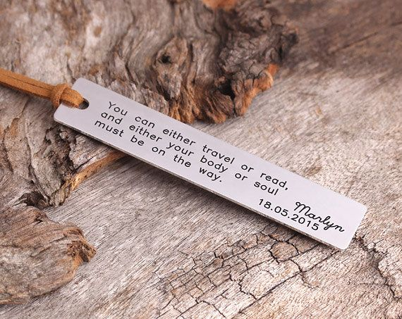 Personalized Bookmark  Gift for Reader  Handmade by aimeehandmade