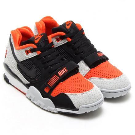 NIKE AIR TRAINER 2 PREMIUM BLACK/BLACK-TEAM ORANGE-WOLF GREY #sneaker