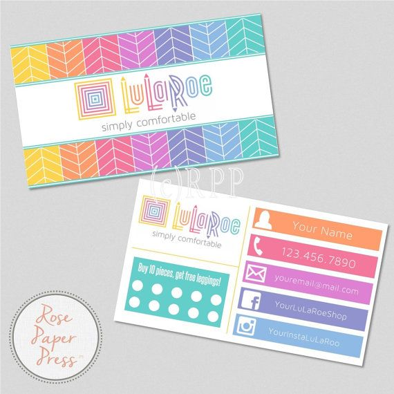 Business Cards Herringbone Custom Printable Card Punch Or Spotted