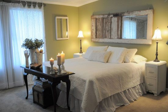 Pin by peggy pardo the casa collective on diy ideas file - Bed without headboard ideas ...