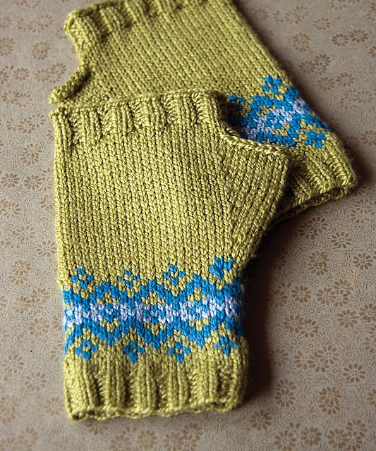 Ravelry: Fair Isle Fingerless Mitts pattern by Megan Goodacre ...