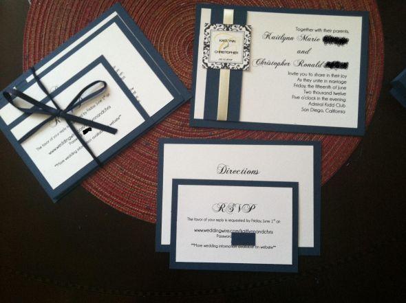 My Finished Diy Invitations Weddingbee Do It Yourself Wedding Invitations Diy Wedding Invitations Diy Wedding