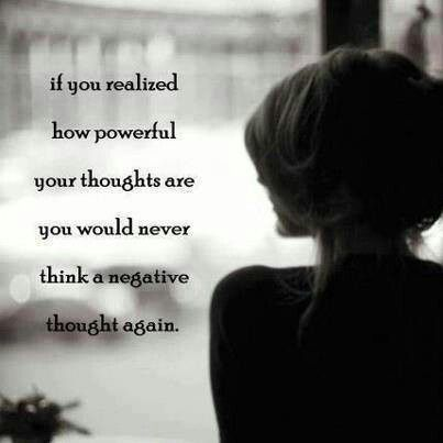 I'm all about the positive thoughts today.