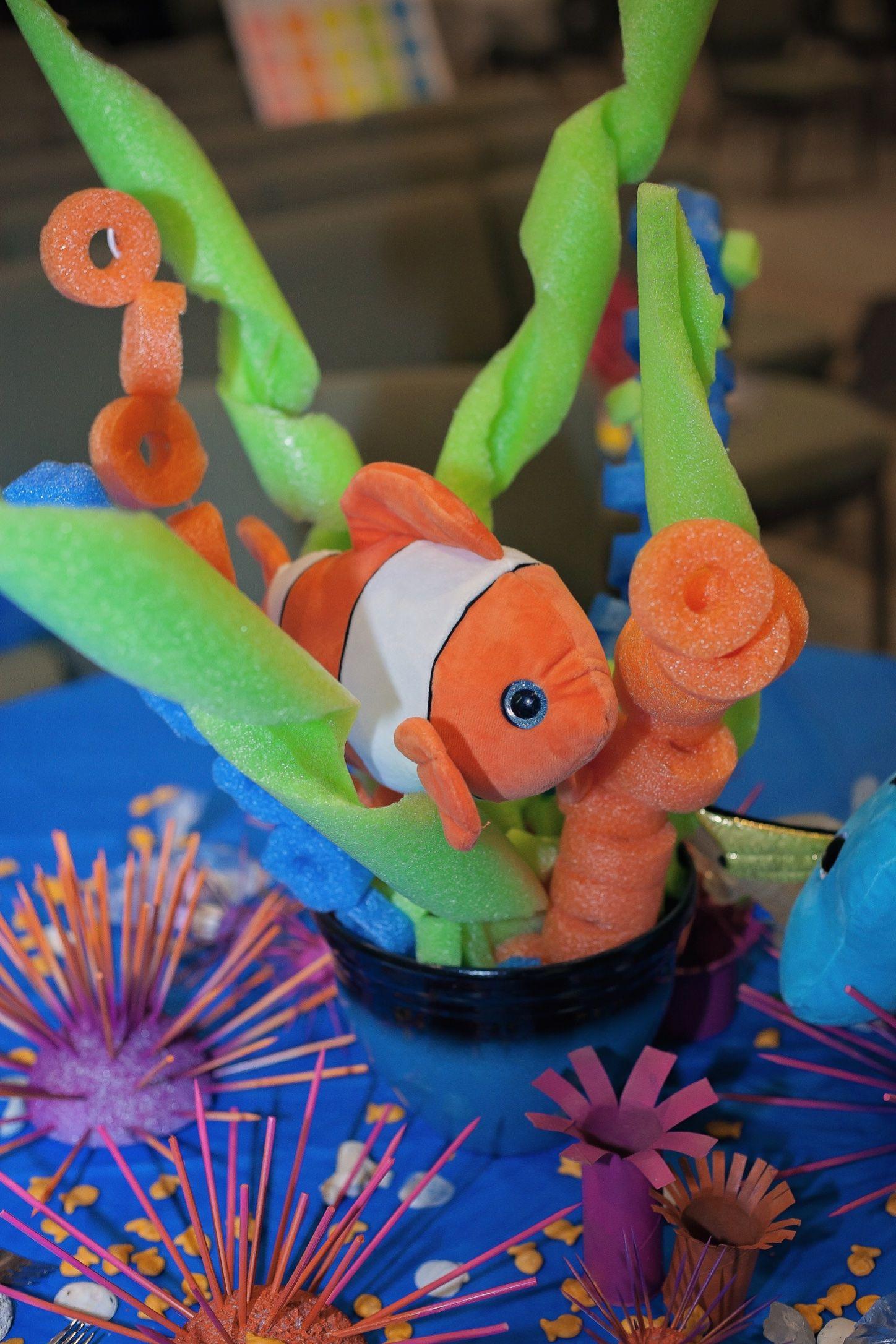 Finding nemo center piece decorations Disney theme