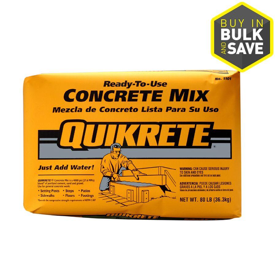 QUIKRETE 80-lb Gray High Strength Concrete Mix