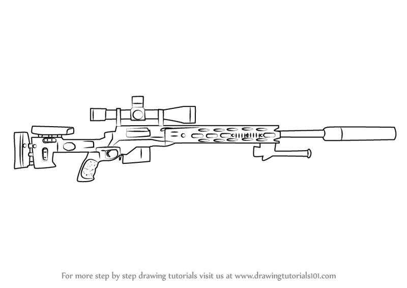 How to Draw a M2010 Enhanced Sniper Rifle | dibujo | Pinterest ...