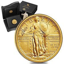 PRESALE - 2016 1/4 oz Standing Liberty Quarter Centennial Gold Coin 1916-2016 10