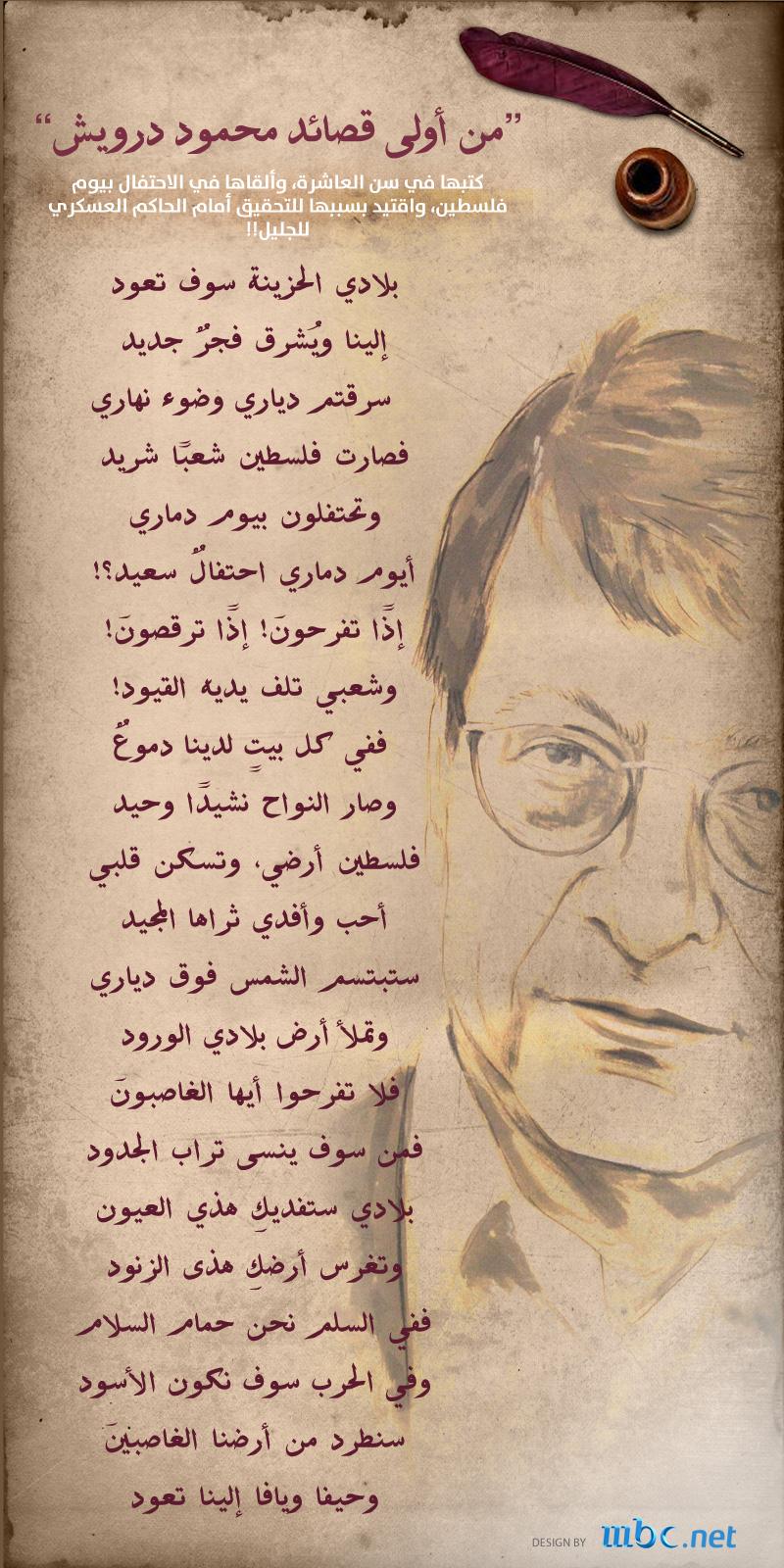 محمود درويش Arabic Poetry Palestine History Magic Words