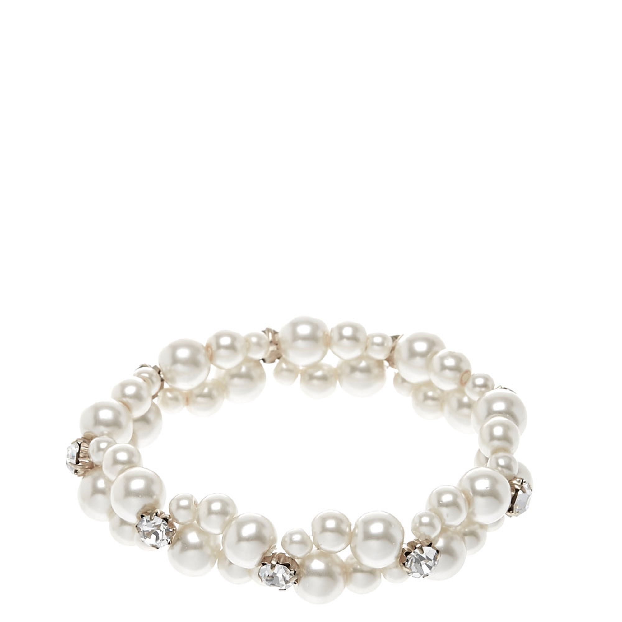 Double row faux white pearl bracelet accessories i want in